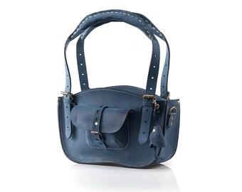 Leather Handmade purse  Shoulder Bag mini version ladybuq bag