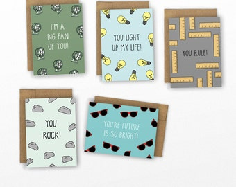 Funny Mini Cards | SET OF 10 Punny Cards by Cypress Card Co.