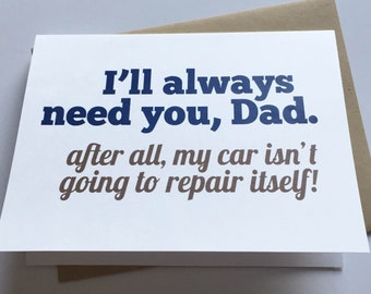 Dad Card - Father's Day Card - Dad Birthday Card - Funny Dad Card - Card for Dad - Father's Day
