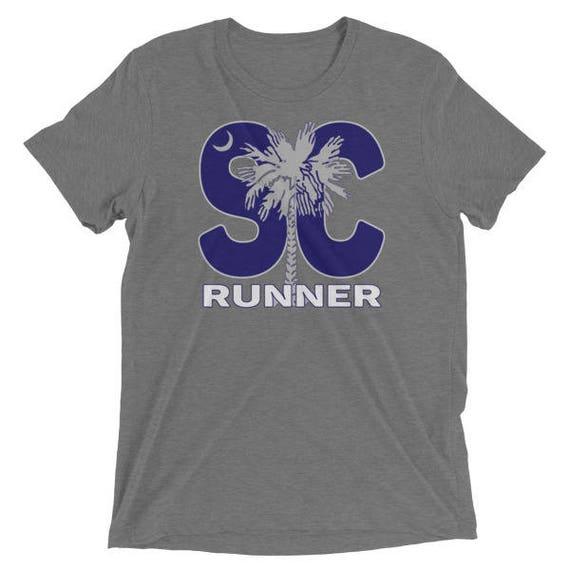 Men's South Carolina Runner TriBlend T-Shirt - Run South Carolina - Men's Short Sleeve Running Shirt