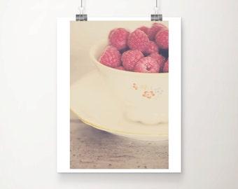raspberry photograph food photography kitchen wall art raspberry print fruit photograph fruit print still life photography