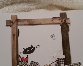 Handmade whimsical birthday card