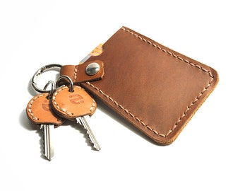 Keychain Card Holder, Leather Card Case, Leather Card Holder, Credit Card Keychain, Business Card Wallet ,Credit Card Wallet, id Card Holder