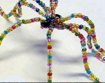 Glass Beaded Spider of the Arachnid Family, Figurine, Adjustable, Birthday Present, Monitor Decoration, Unique Gift, Unusual, Handmade