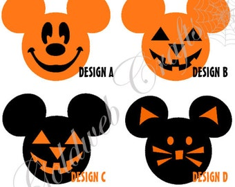 Halloween Mickey Mouse Inspired Vinyl Decals/Stickers (set of 20)