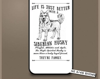 Siberian Husky dog phone case cover iPhone Samsung ~ Can be Personalised