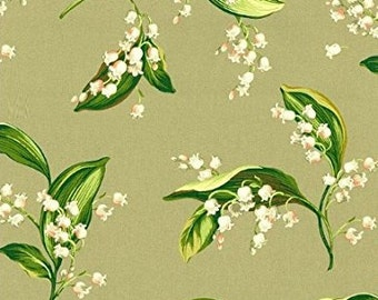 Lilies of the Valley Color Shale Gray, Fabric Printed Decorative Home Decor