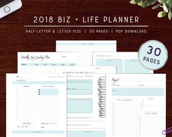 Full Biz + Life Planner | Undated | Printable Pages
