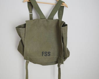 Vintage USFS FSS heavy old canvas backpack Type I - made by Anchor Industries