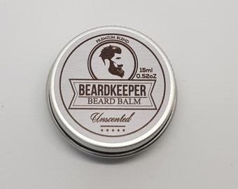BeardKeeper Conditioning Beard Balm - Growth,Thickness,Softer Beard - 15ml - Hemp Oil - UNSCENTED