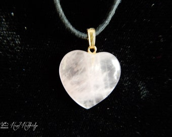 Rose Quarts Crystal Stone Heart Pendant