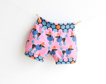 POODLE Girl Shorts pattern Pdf sewing pattern, Children Toddler Knit Jersey Shorts, 3 4 5 6 7 8 9 10 years