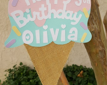 Ice Cream Door sign, Sweet Shop Party, Ice cream Birthday