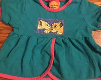 90s Lion King vintage childrens T-shirt/ vintage classic walt disney vhs video bedding blanket kids children htf timon htf