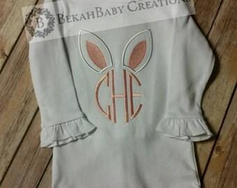 Bunny monogram *Easter shirt*