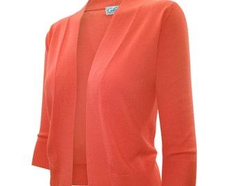 Bolero Cardigan Three Quarter Sleeve - SW620