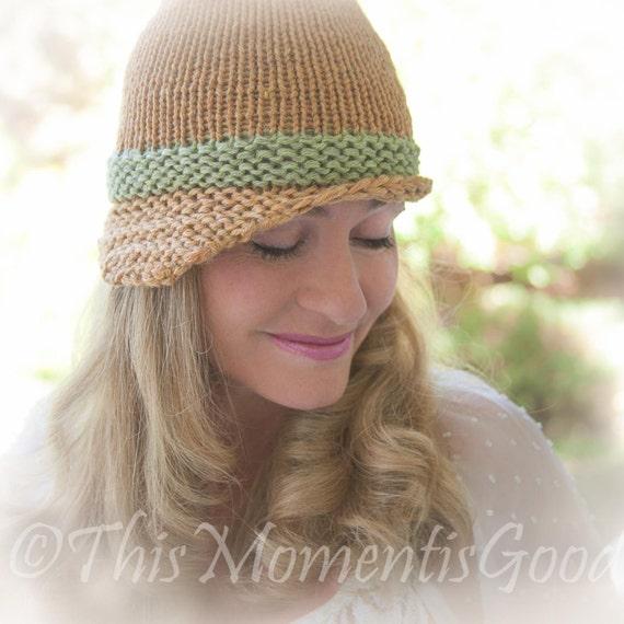 Loom Knit Folded Brim Cloche Hat Pattern Vintage Style Hat