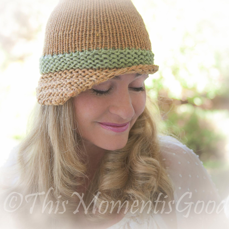 Loom Knit Folded Brim Cloche Hat PATTERN. Vintage Style Hat