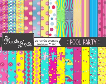 50% OFF - Digital Paper Pool Party