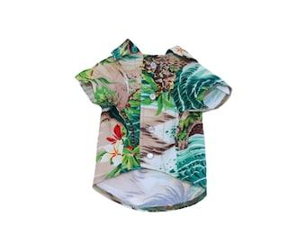 Dog Clothes Beachside Shirt | Dog Shirt | Dog Apparel | Dog Shirts for Dogs | Pet Clothing | Hawaiian Dog Shirt