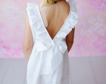 Lucy Anne-White Eyelet Dress