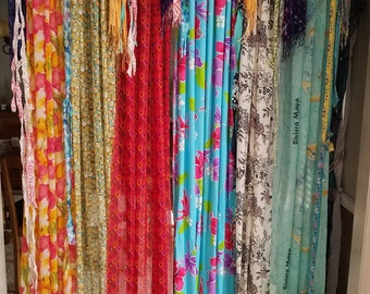 Boho Curtains Scarf Curtains Bohemian Curtains Gypsy Curtains Hippie Curtains Shabby Chic
