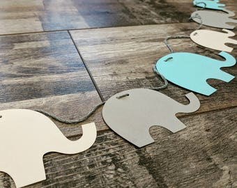 6ft Paper 'Elephants' Garland | Bespoke : All White or Choice of Colours