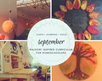 Waldorf Inspired September Homeschool Curriculum Guide, Nature Based