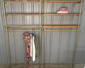 Retail Clothing Display with Shelves - Industrial Retail Display - Clothing Rack - Clothes display - Industrial rack - Retail Store fixture