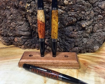 Renaissance Ballpoint pen in premium exotic wood with gunmetal hardware.
