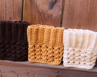 Women's Cozy Crochet Boot Cuffs MANY COLORS