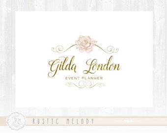 Wedding Logo Events Planner Logo Photography Logo Design Floral Logo Gold  logo Watermark Logo Rustic Logo