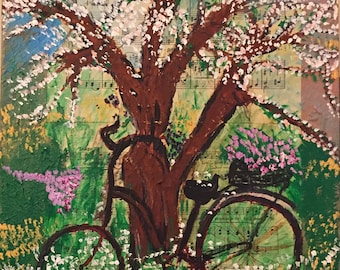 "Almonds Blossoms Spring Featuring Nature Beauty._ Spring By Josette Atme. Size: 24""X12"" Inches."