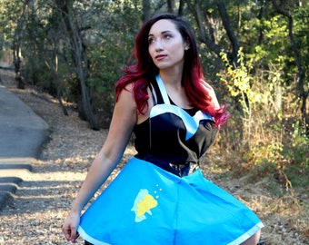 Little Mermaid Apron - KISS THE GIRL - in a Retro Pinup Style by GoodVibeTribez