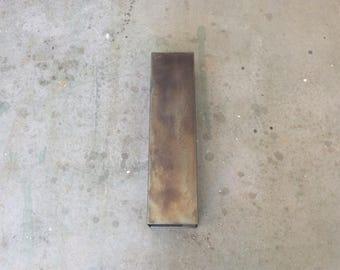 Linear Steel Sconce // Patinaed steel lighting