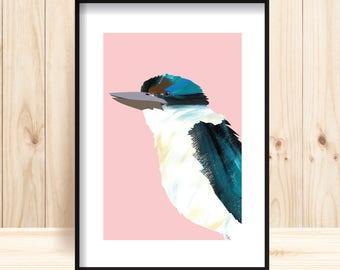 Kingfisher Prints, Bird Painting, Bird Poster, Kingfisher Bird, Printable Bird Art, Wildlife Wall Decor, Kingfisher Wall Art, Nature Prints