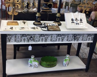 Hollywood Regency Upstyled Console