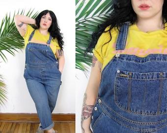 Plus Size Vintage 1990's Denim Overalls Size XL 14 16