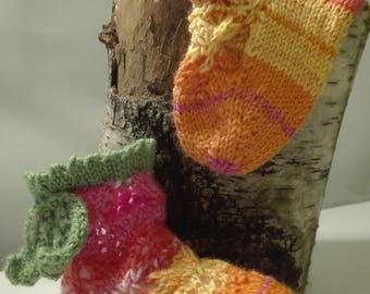 Baby Socks, flowers