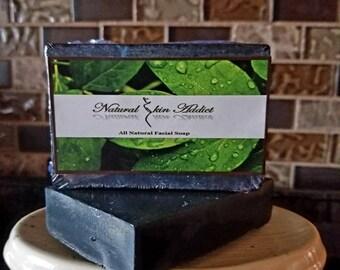 Activated Charcoal & Bentonite Clay Facial Soap