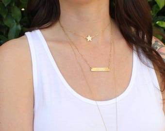 Initial Choker Necklace, Dainty Choker Necklace, Star Choker, Initial Necklace, Silver or Gold Necklace, Initial Jewelry, The Silver Wren