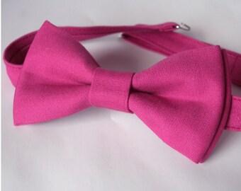Pink Purple Bow Tie Mens Bowtie in Violet  Mens Bowties Wedding Bowtie Cotton Bowtie Wedding Bow  Groomsman Bowtie