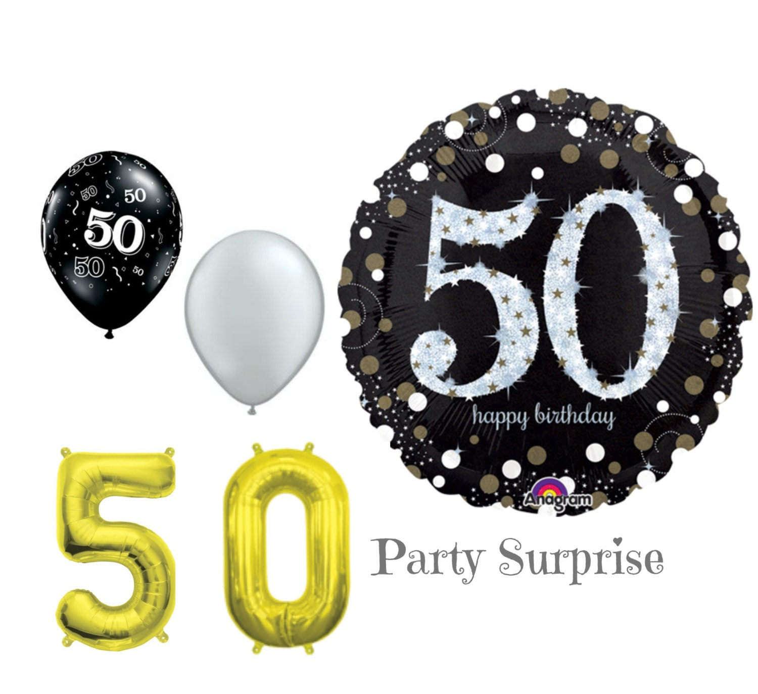 50th birthday party decorations. 50th Birthday Balloons 50 Years Old Party Decorations P