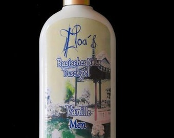 Bio Shower Gel Alkaline bourbon vanilla for men