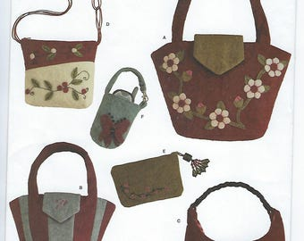 Simplicity 3715 - Washed Felt Bags