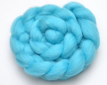 BFL Wool Combed Top Light Blue - Heritage Breed - 100 grams
