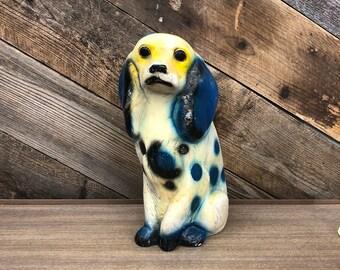 Chalkware Spaniel Figurine