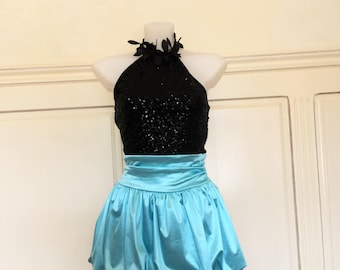 Adult dance satin and lycra costume
