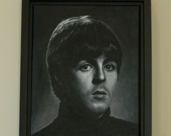 Original Canvas Painting, PAUL ~ Framed 16 x 13 inches