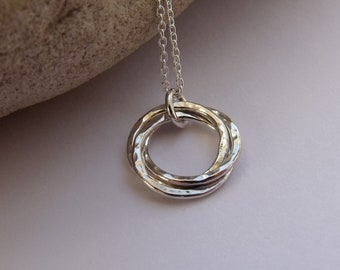 Silver Mobius Ring Necklace
